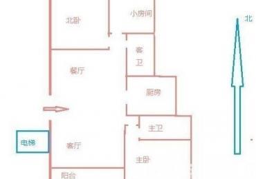 【整租】阅城国际花园3室2厅