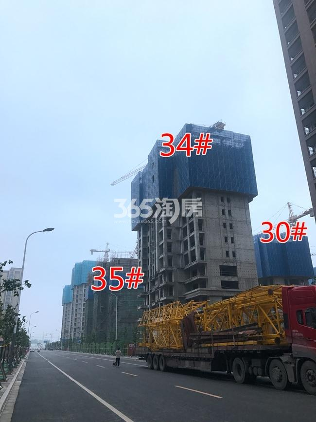 荣盛花语城30、34、35#工地建设进度实景图(7.26)