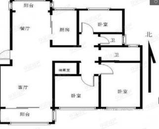 长阳花园3室2厅2卫127.12平米豪华装产权房2003年建