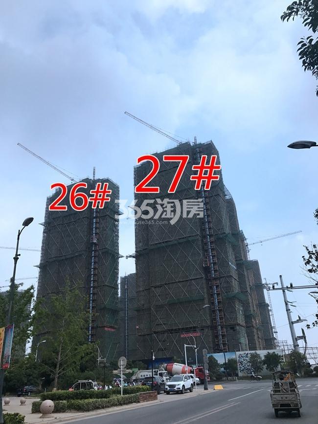 融创玉兰公馆26、27#工地建设进度实景图(7.26)