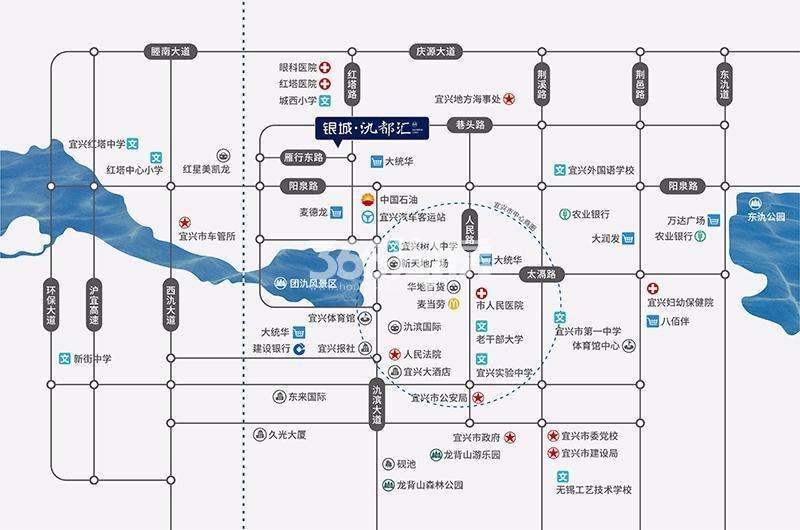 银城·氿都汇交通图