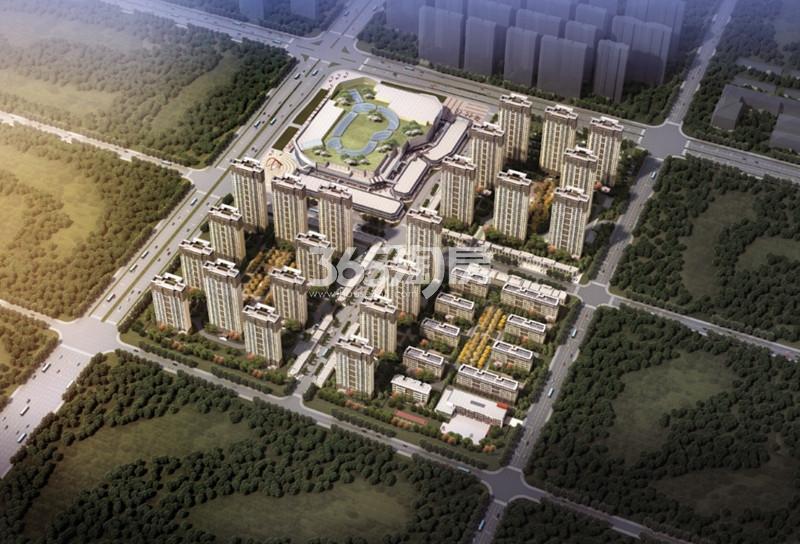 滁州吾悦广场鸟瞰图