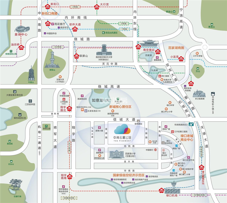 中海云麓公馆交通图