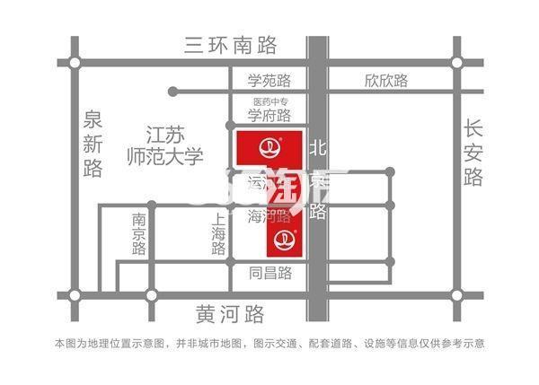 徐州铜山万达广场交通图