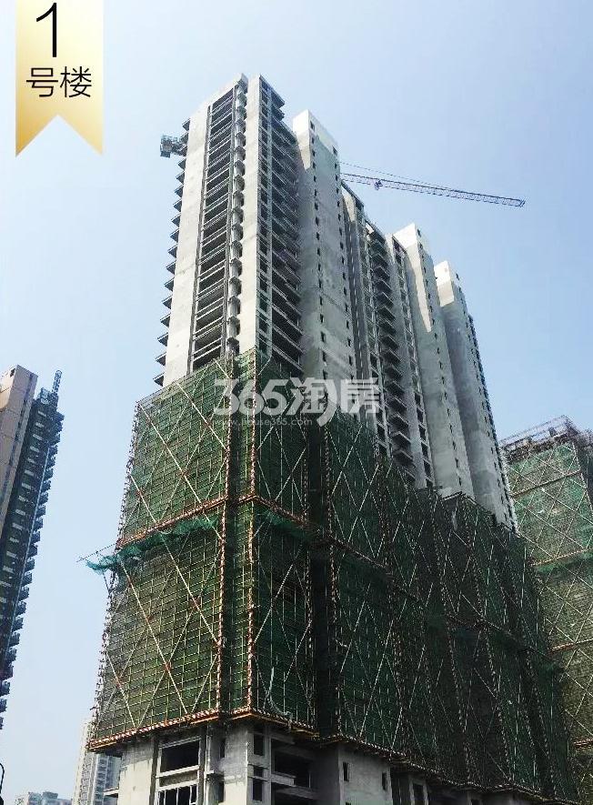 2018年8月融信澜天高层1号楼实景