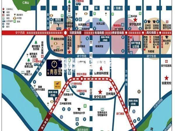 中集青春里交通图