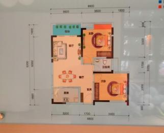 阳光海岸2室1厅1卫79平方产权房精装