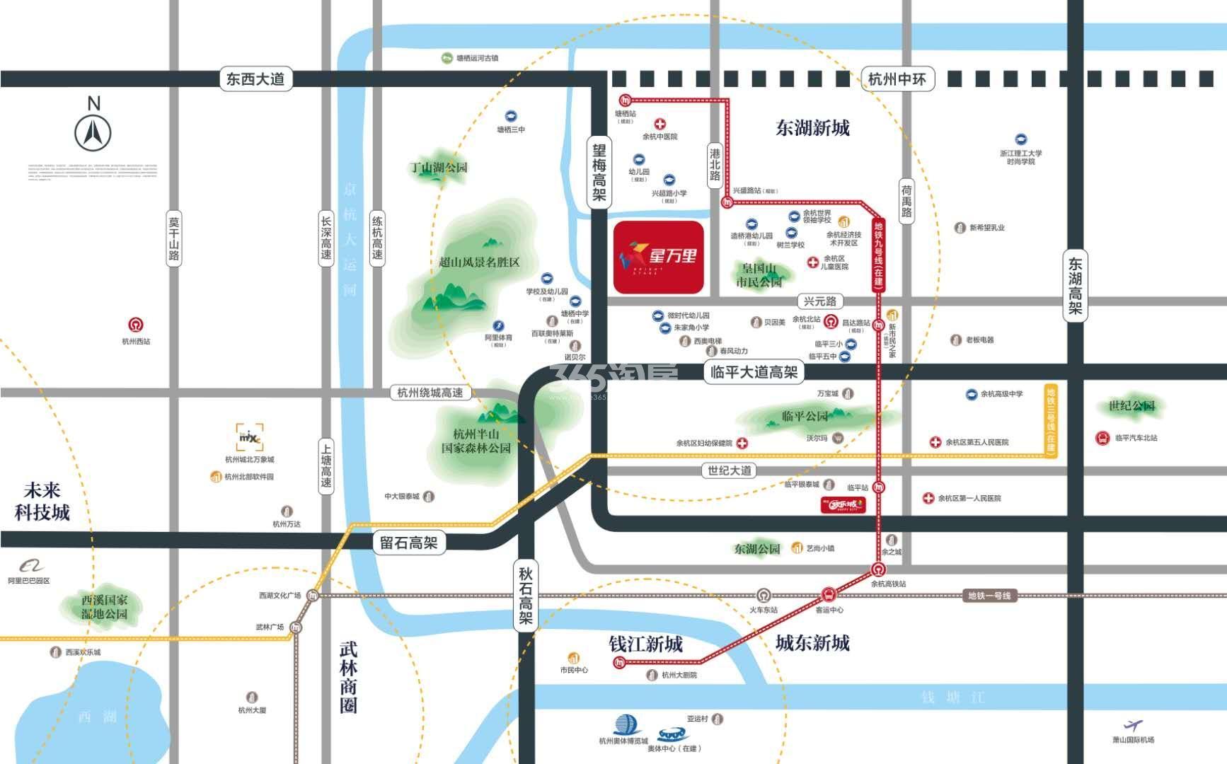 杭辰星万里交通图