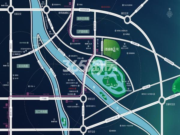 碧桂园香湖湾1号交通图