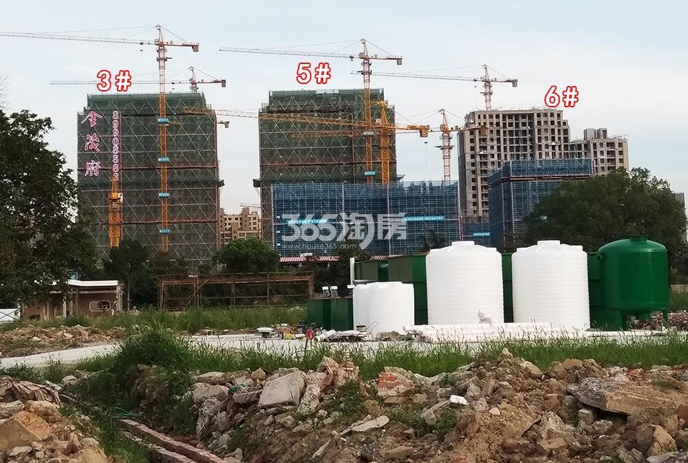 2018年6月底远拍首开杭州金茂府一期3、5、6号楼实景