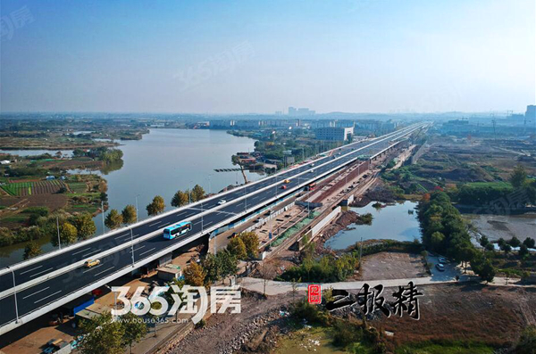 2017年10月29日,马塘立交主线桥正式通车试运营。