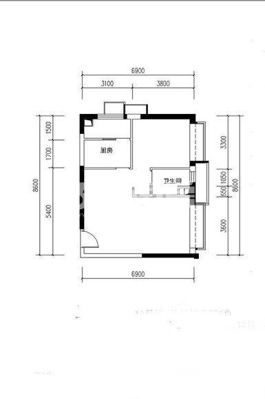 恒大都市广场公寓11#、10#楼1室1厅1卫1厨80平