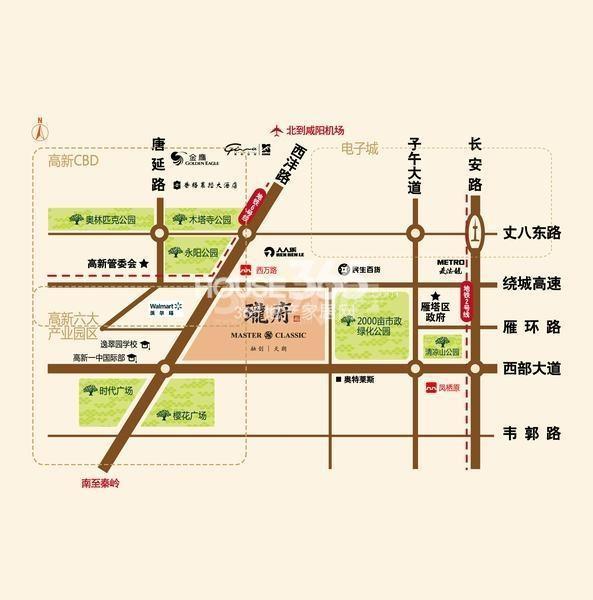 融创珑府交通图