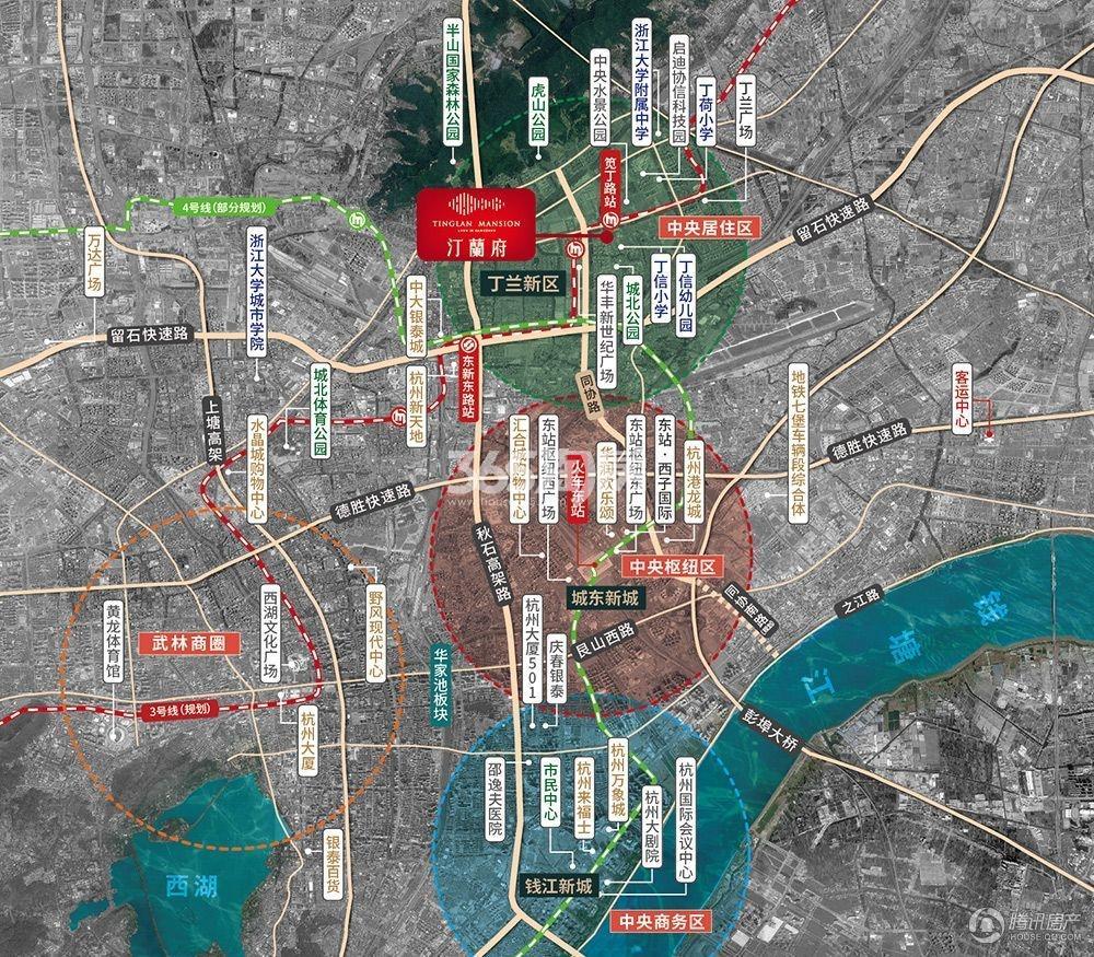 绿都汀蘭府交通图