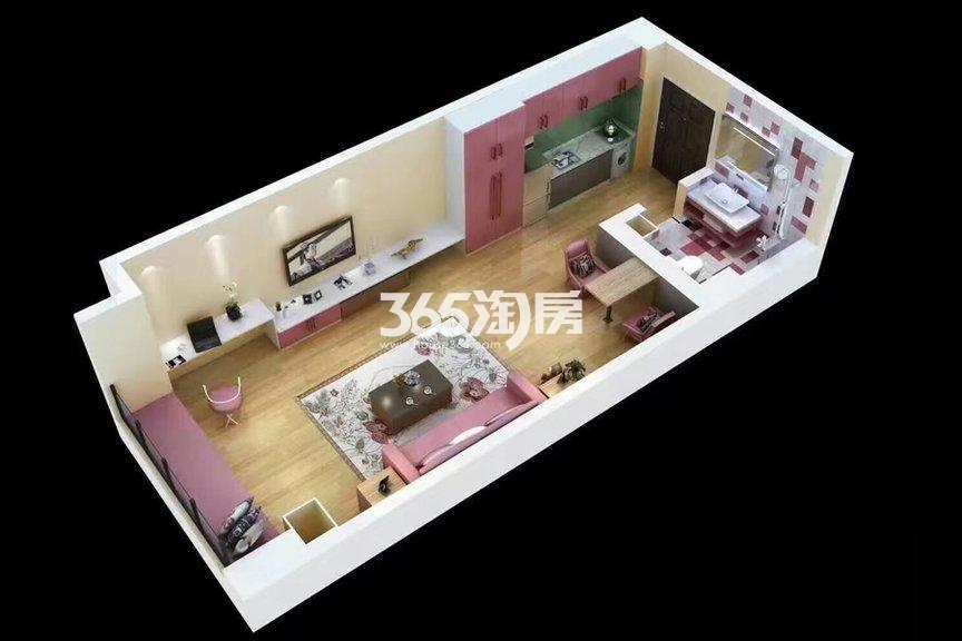 当代满堂悦MOMΛ1室1厅1厨1卫49.00㎡