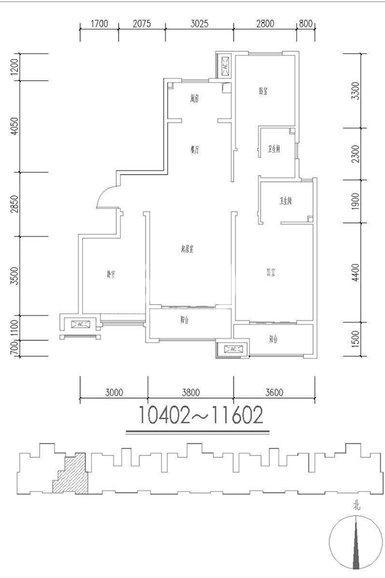 金辉优步花园56#01户3室2厅2卫1厨129.00㎡