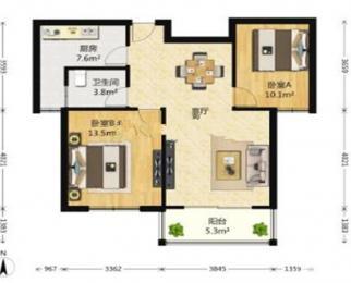 融创新出 不限购 精装无税 全南户型大两室 全天采光 位置好
