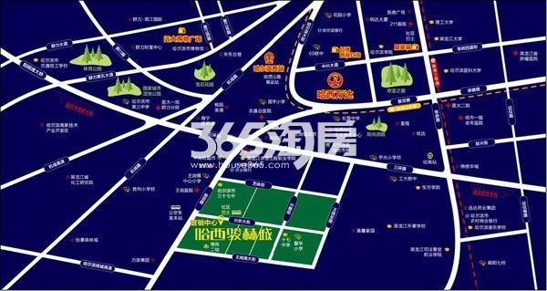 哈西骏赫城交通图