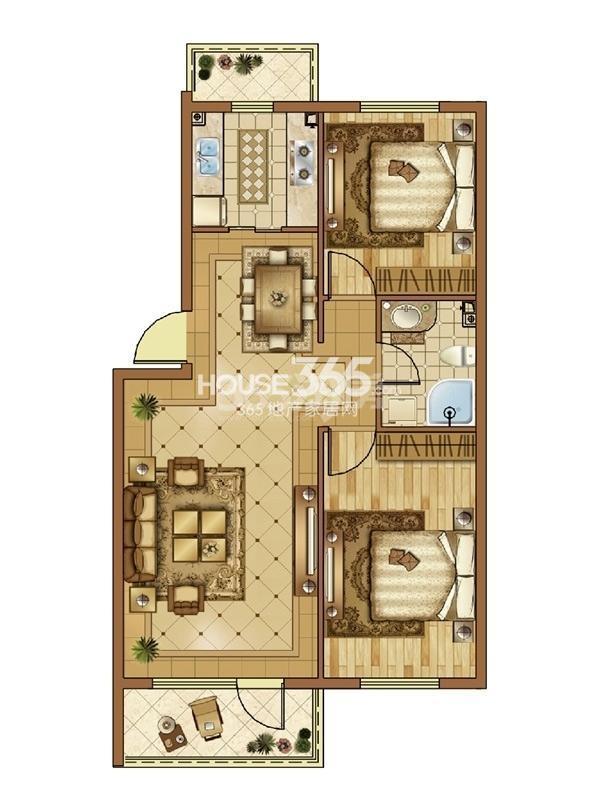 澳海7号公馆2室2厅1卫82㎡