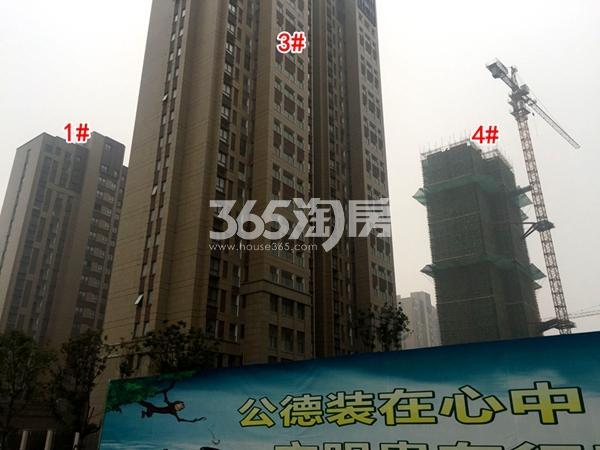 宝能城1#、3#、4#楼工程进度实景图(2018.1摄)