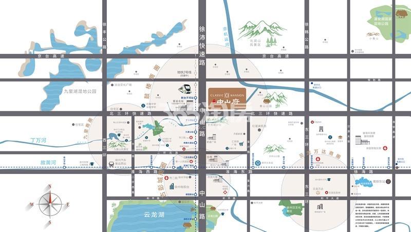 中南中山府交通图