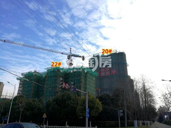 路劲蠡湖院子20#、22#楼工程进度实景图(2018.1摄)