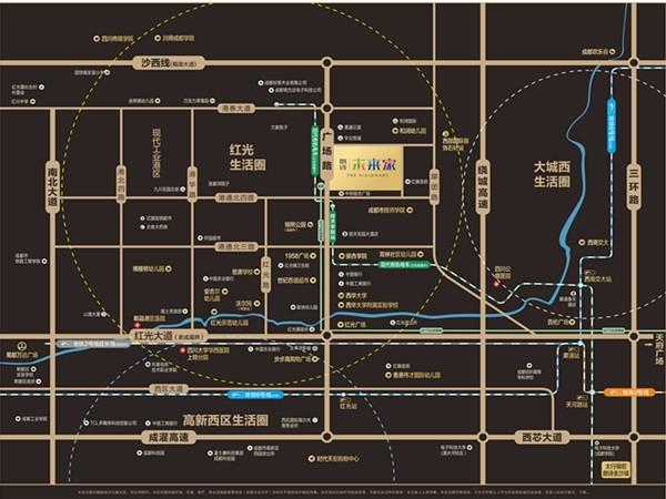 朗诗未来家交通图