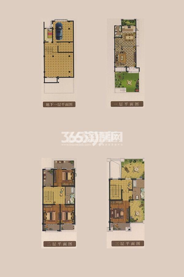 龙湖美墅A户型 6室2厅3卫1厨面积:251.47㎡