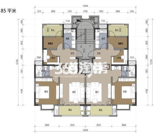 8楼85平方米户型