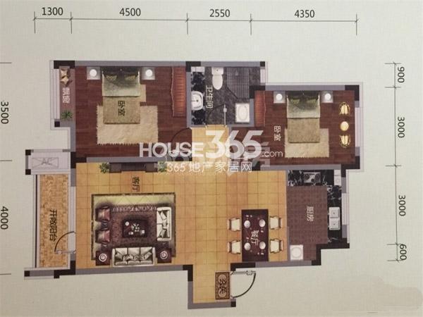 保利溪湖林语 两室两厅一卫一厨--93平