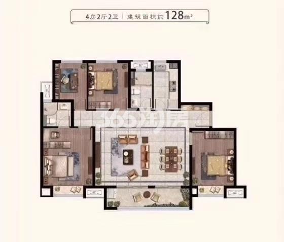 中骏云景台128平户型图