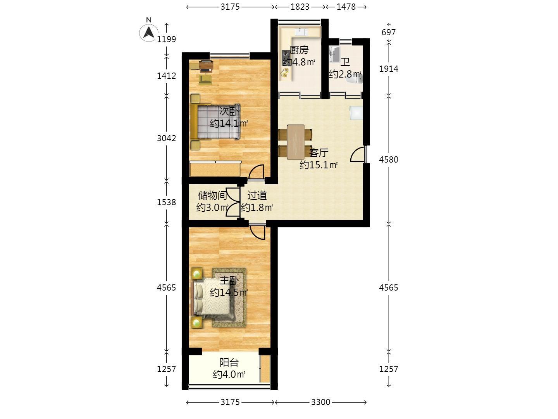东井一村小区3室1卫195万元63平方图片
