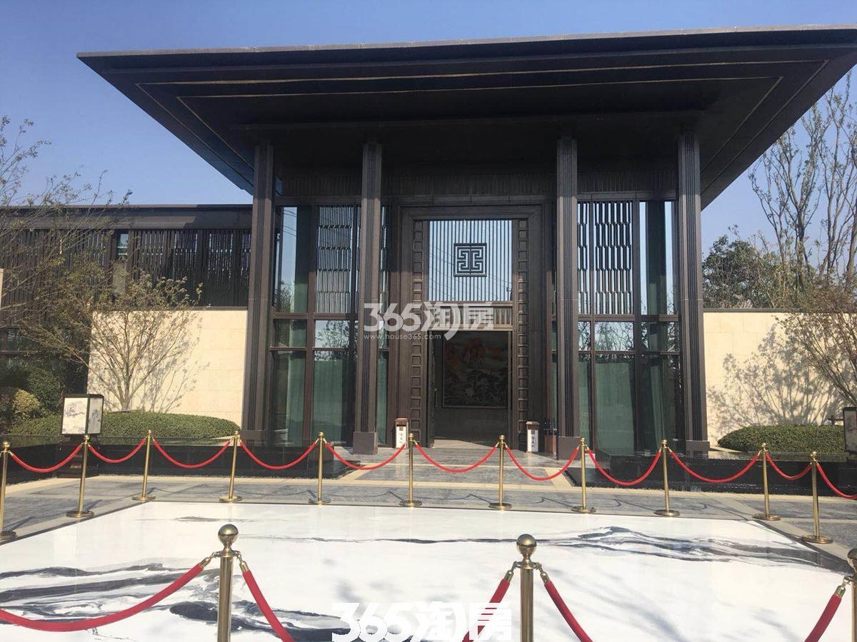 紫云赋售楼部门口实景图(2018.2.1)