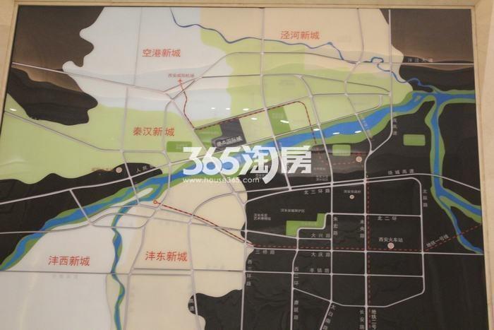 德杰国际城区位图实景(2017.9.5)