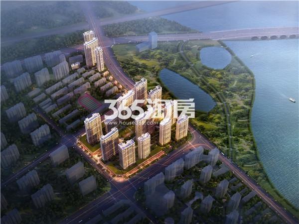 玉龙湖畔鸟瞰图