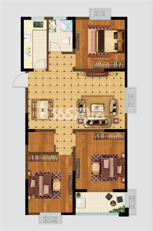 瑞泰·滨江公馆三室两厅一卫118