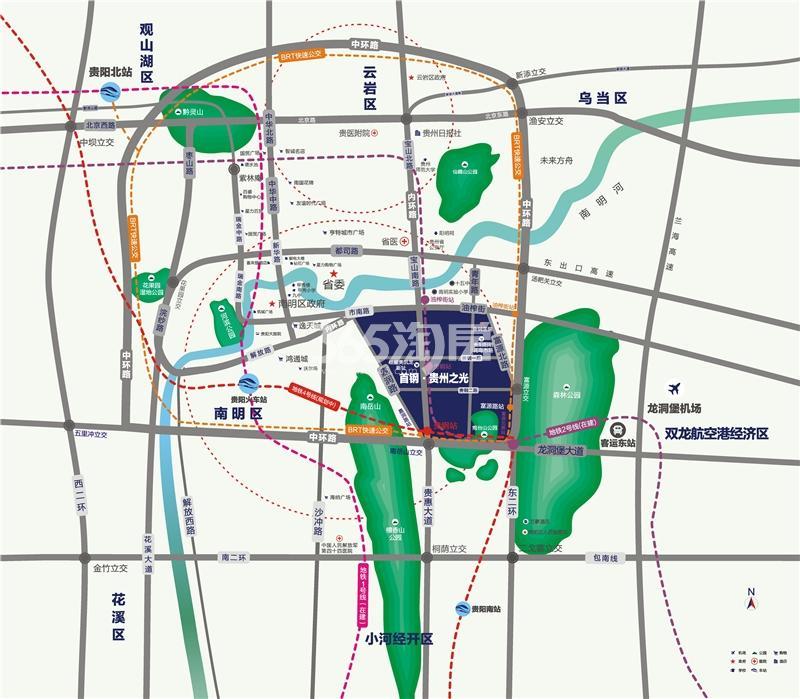 首钢贵州之光交通图