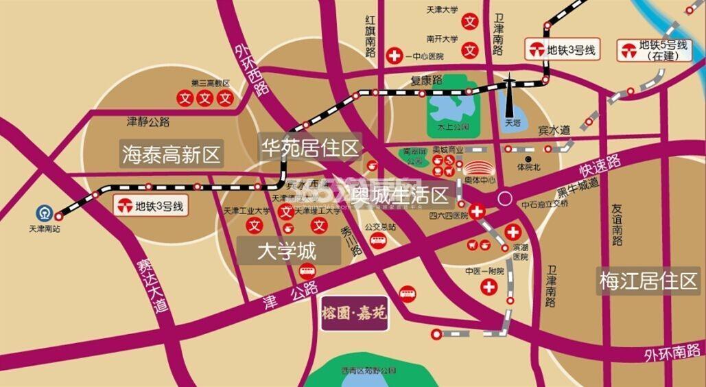 榕园嘉苑交通图