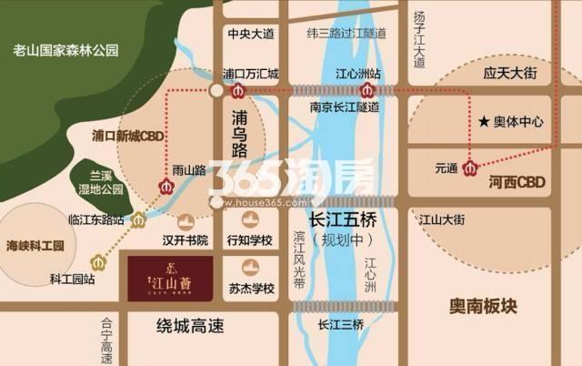 江山薈交通区位图