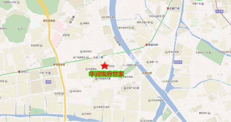 华润悦府世家交通图