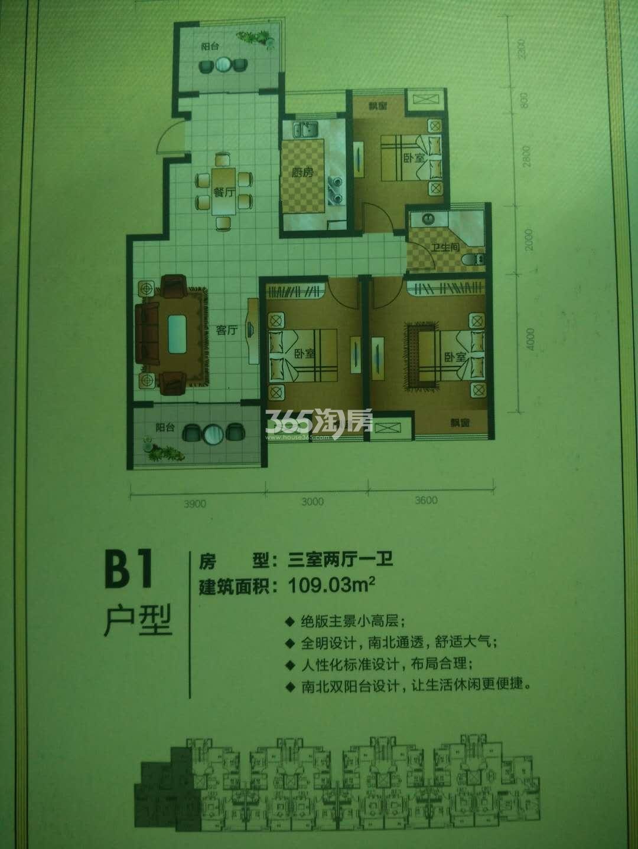 东方公馆B1户型图