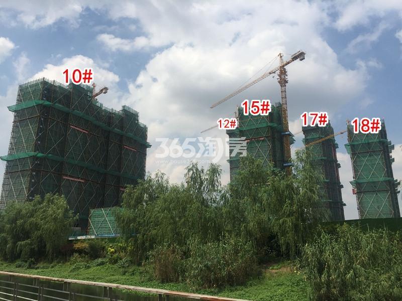 中锐星公元10#、12#、15#、17#、18#楼工程进度实景(2018.8摄)