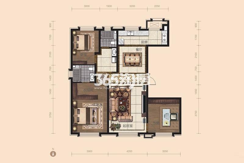 140平米 3室2厅2卫
