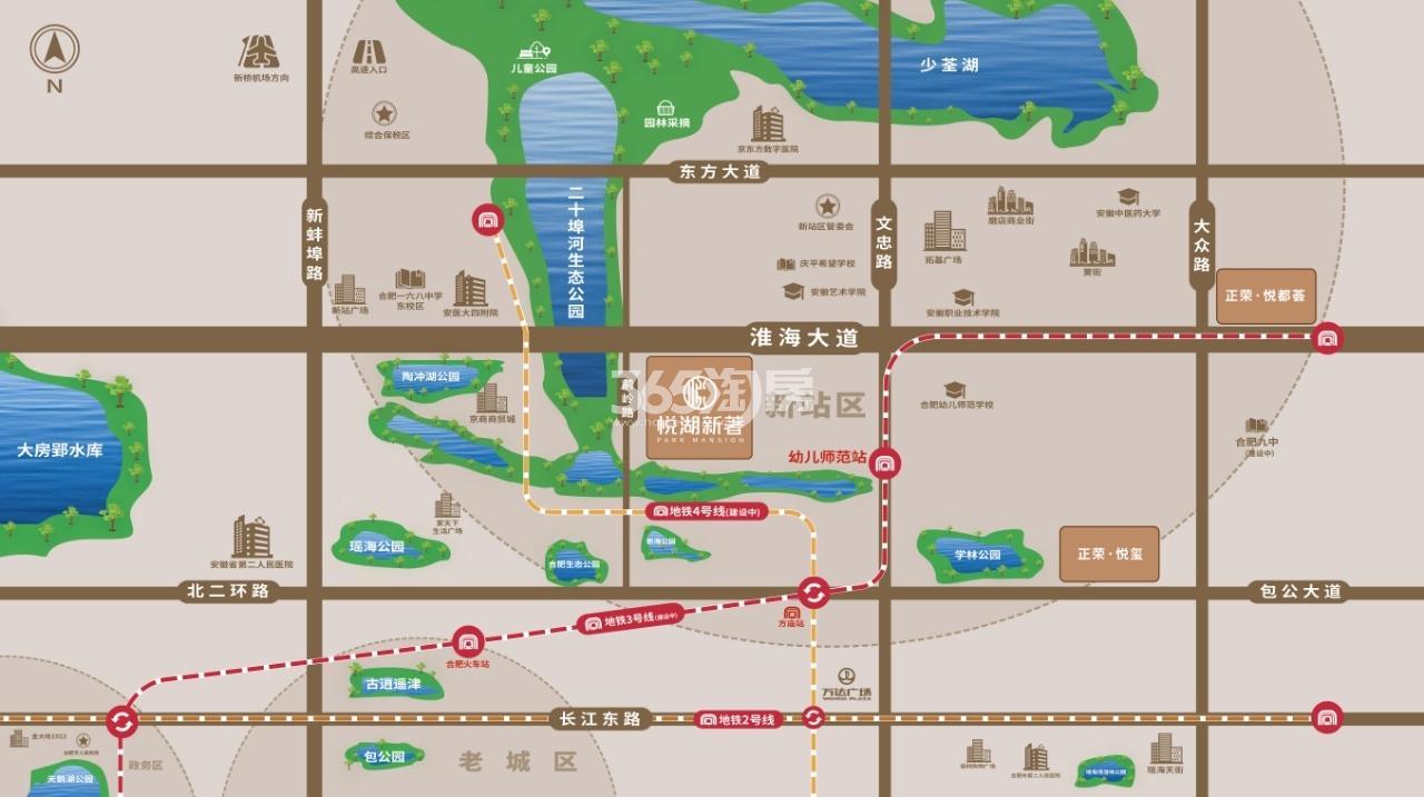 悦湖新著交通图