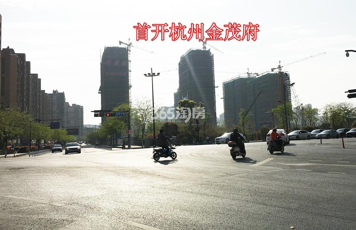 2018年3月31日学院北路与隐秀路交叉口拍摄首开杭州金茂府