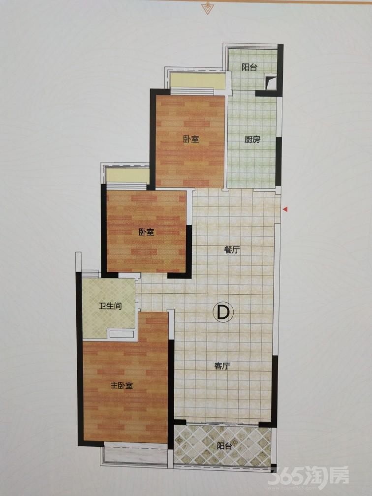 六安恒大御景3室2厅1卫98平米2020年产权房精装