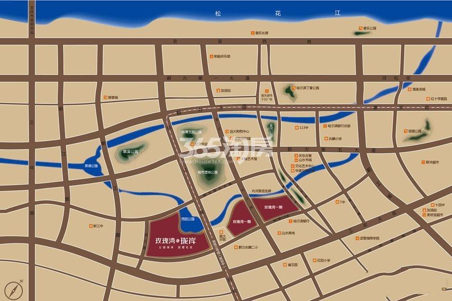 玫瑰湾·珑岸(别墅)交通图