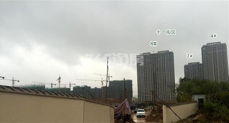 银亿东城11街区在建楼栋实景图(12.10)