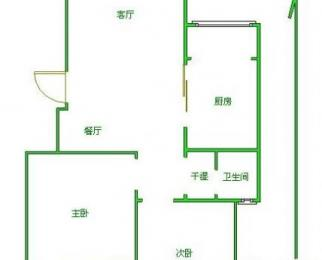 浦东花园2室2厅1卫88.13平方产权房精装(9楼黄金楼层)