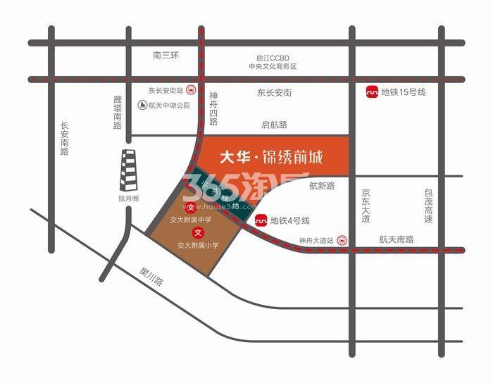 大华锦绣前城交通图